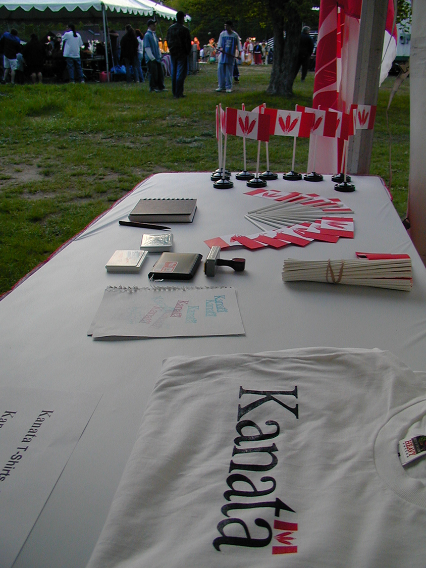 Kanata Booth at Odawa Powwow 2