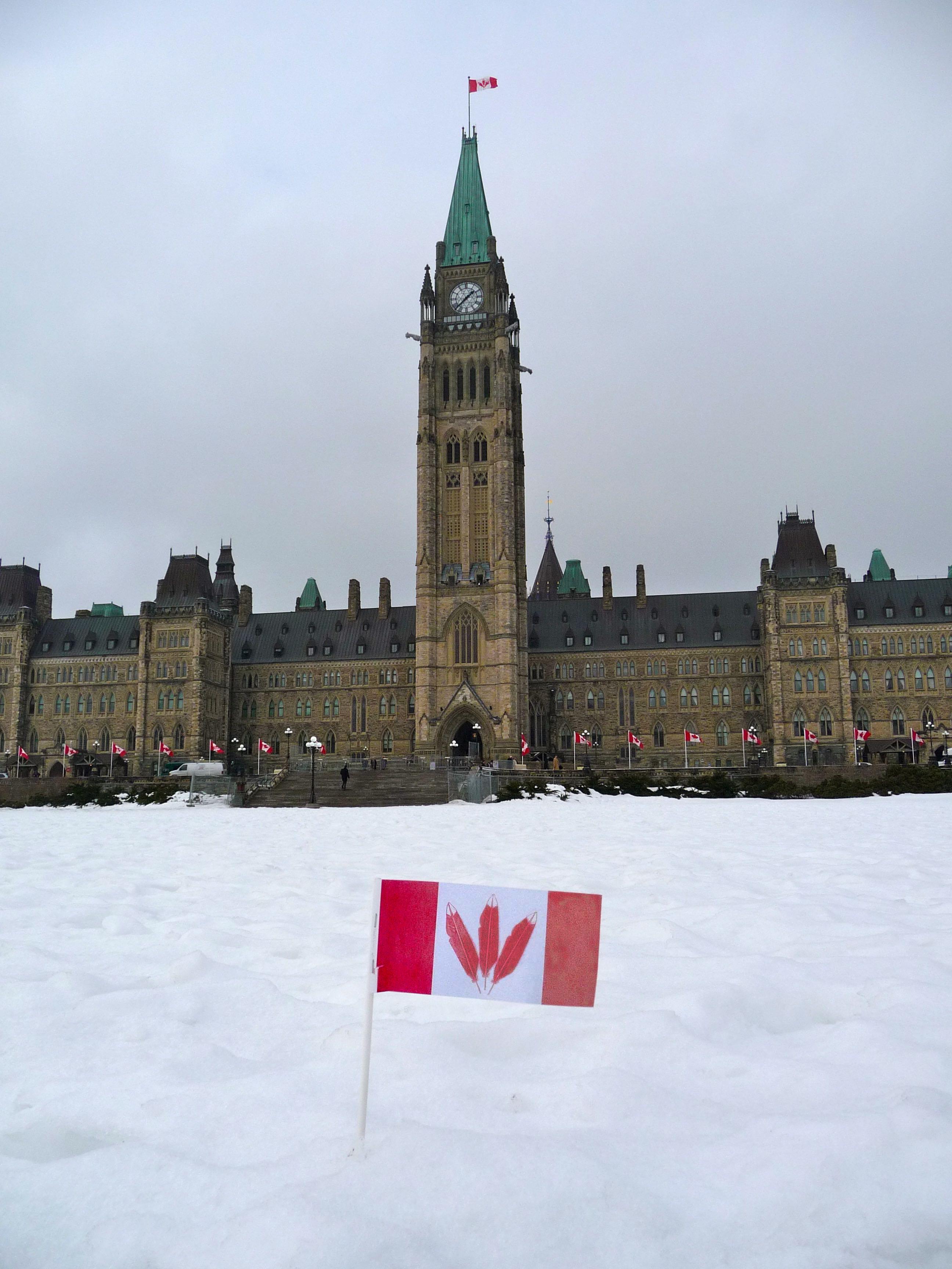 Kanata Flag on Parliament Hill